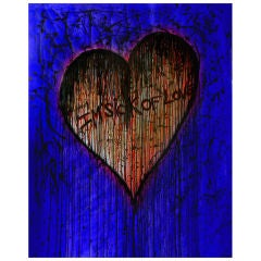 """Lithography by Claire Petit """" Sick of Love blue """""""