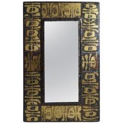 Brass Studded Mirror