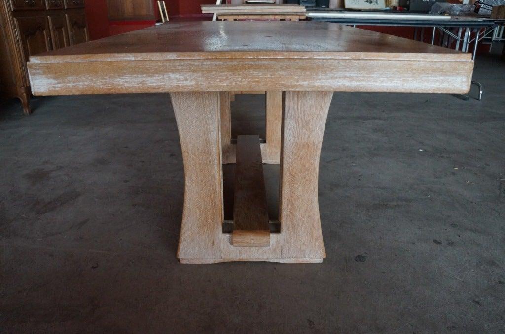 Cerused Oak Dining Set For Sale 4