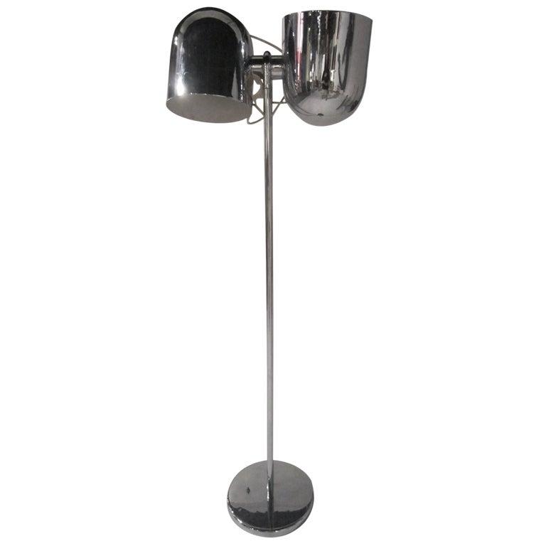 Adjustable Chromed Floor Lamp