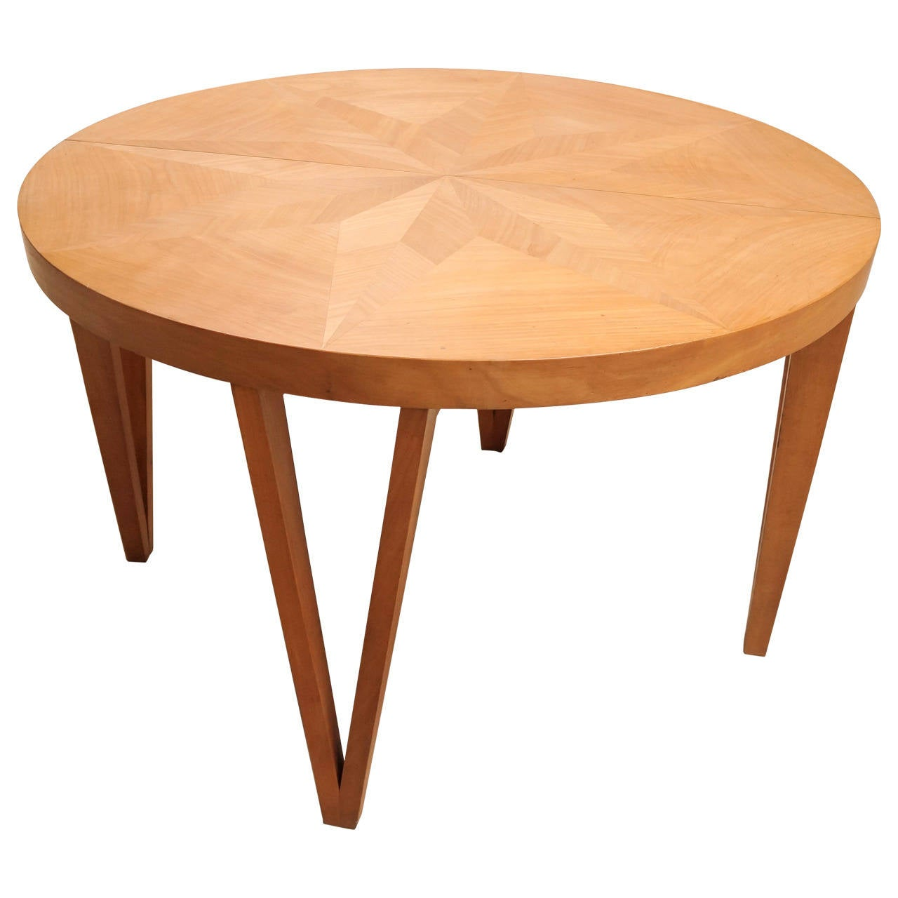 Sycamore Round Dining Table For Sale At 1stdibs