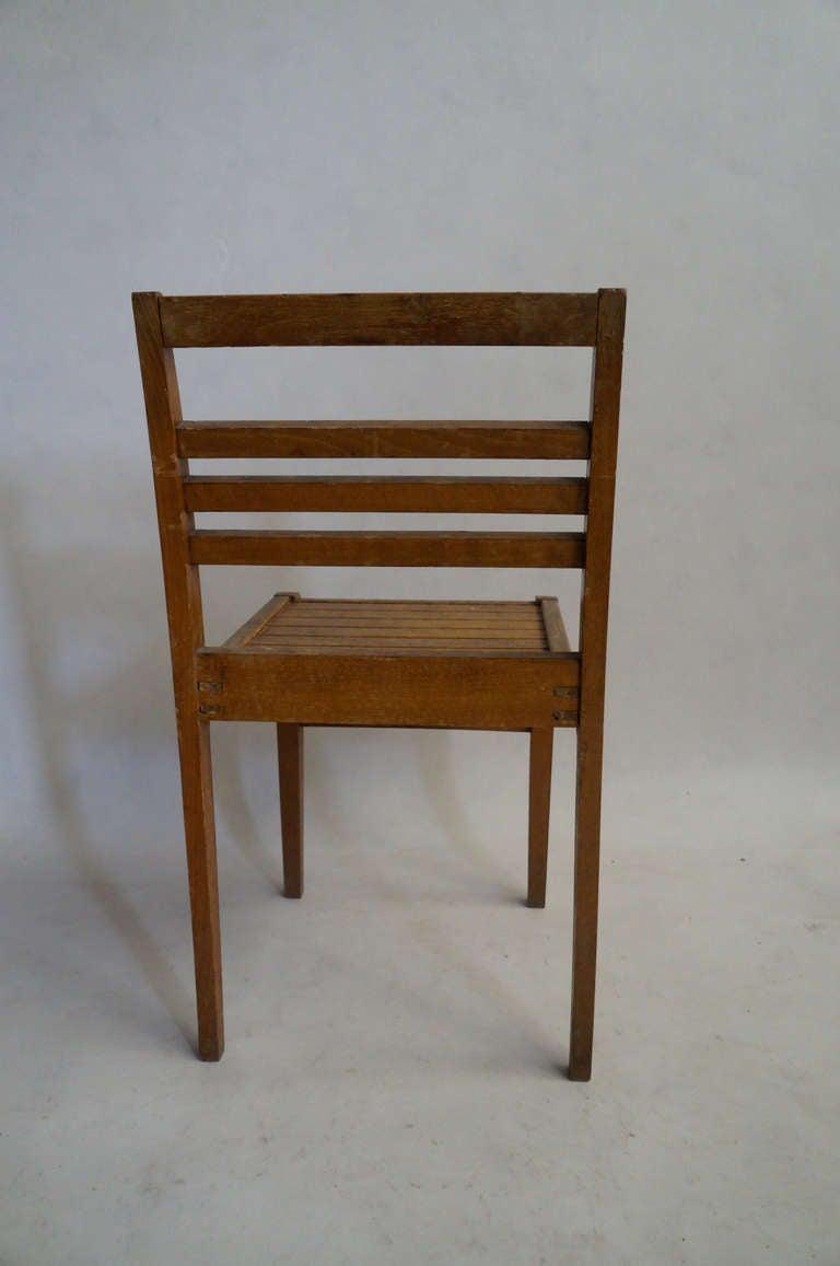 Set of Four Rene Gabriel Oak Chairs For Sale 1