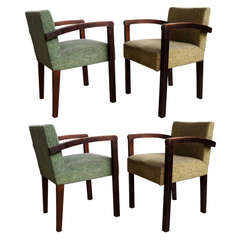 Set of Four Armchairs by Gauthier Poinsignon