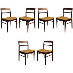 Set of Six Chairs in Plain Wood