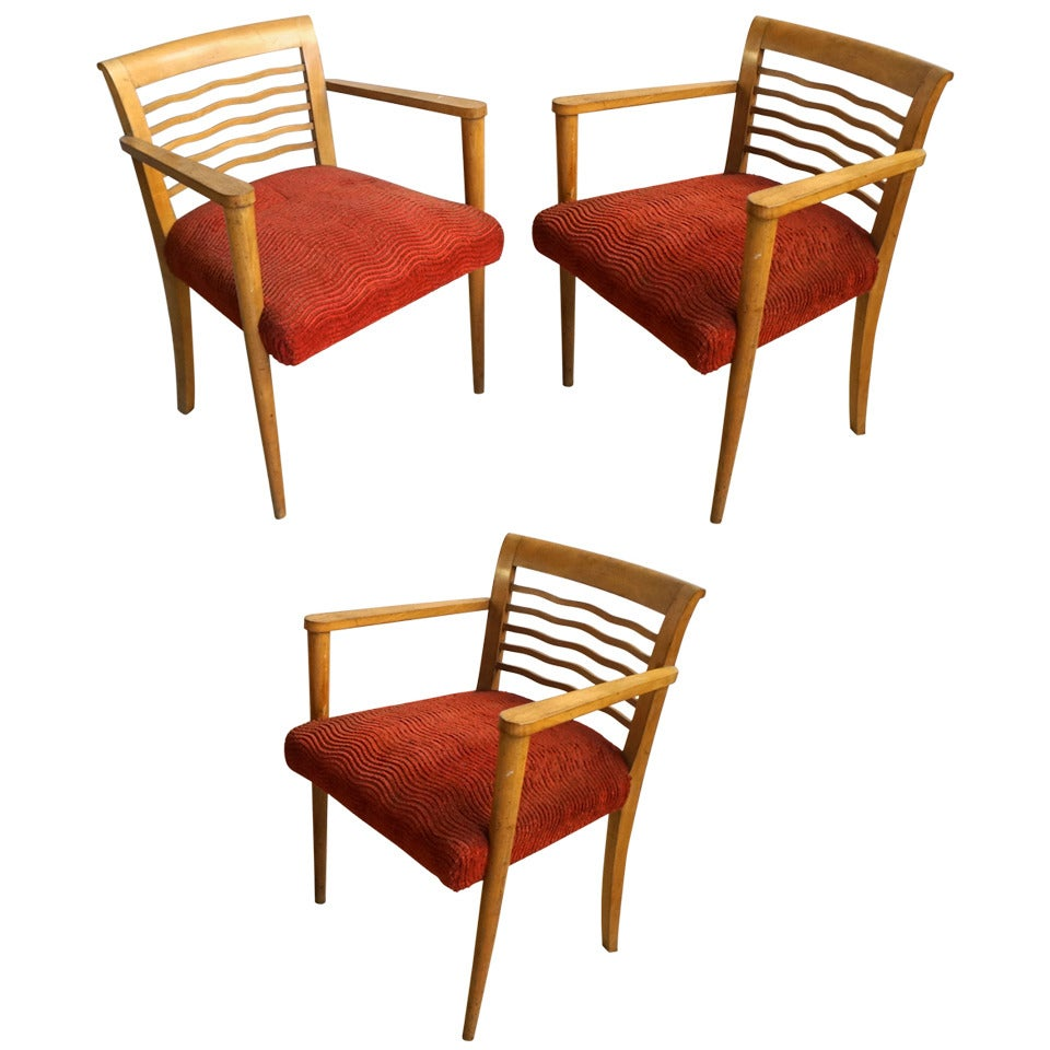Set of Three Sycamore Bridge Armchairs
