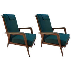 Pair of Reclining Armchairs by Etienne Henri Martin