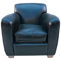 Art Deco Club Chair in the Manner of Dominique