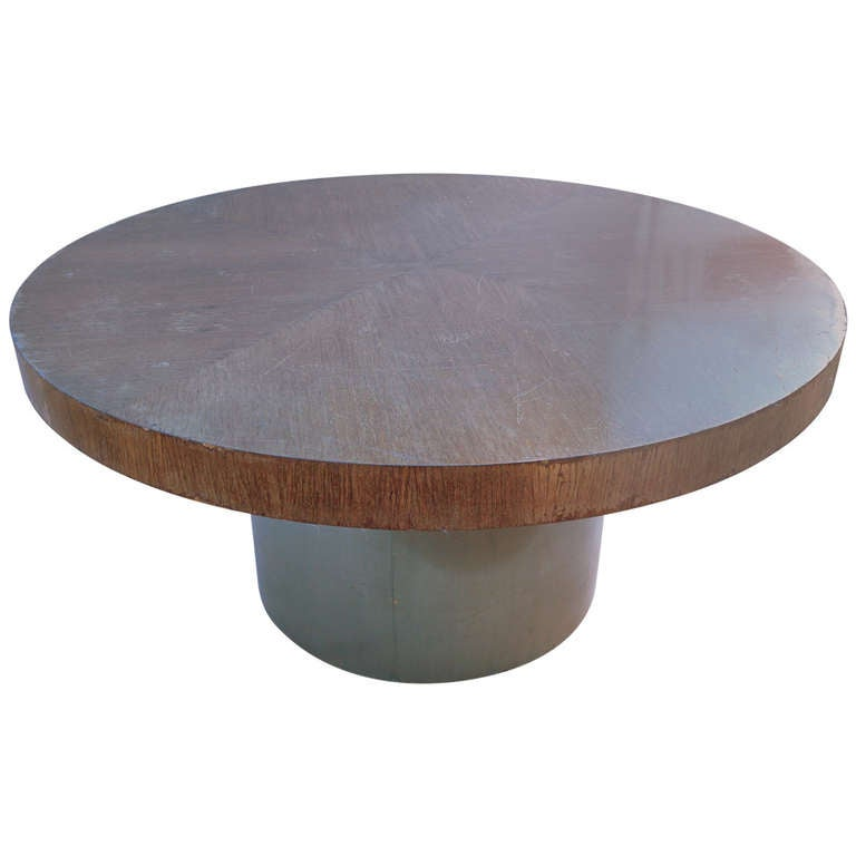 Large Dining Table On Metal Base For Sale At 1stdibs