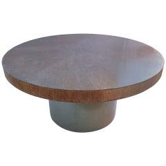 Large Dining Table on Metal Base