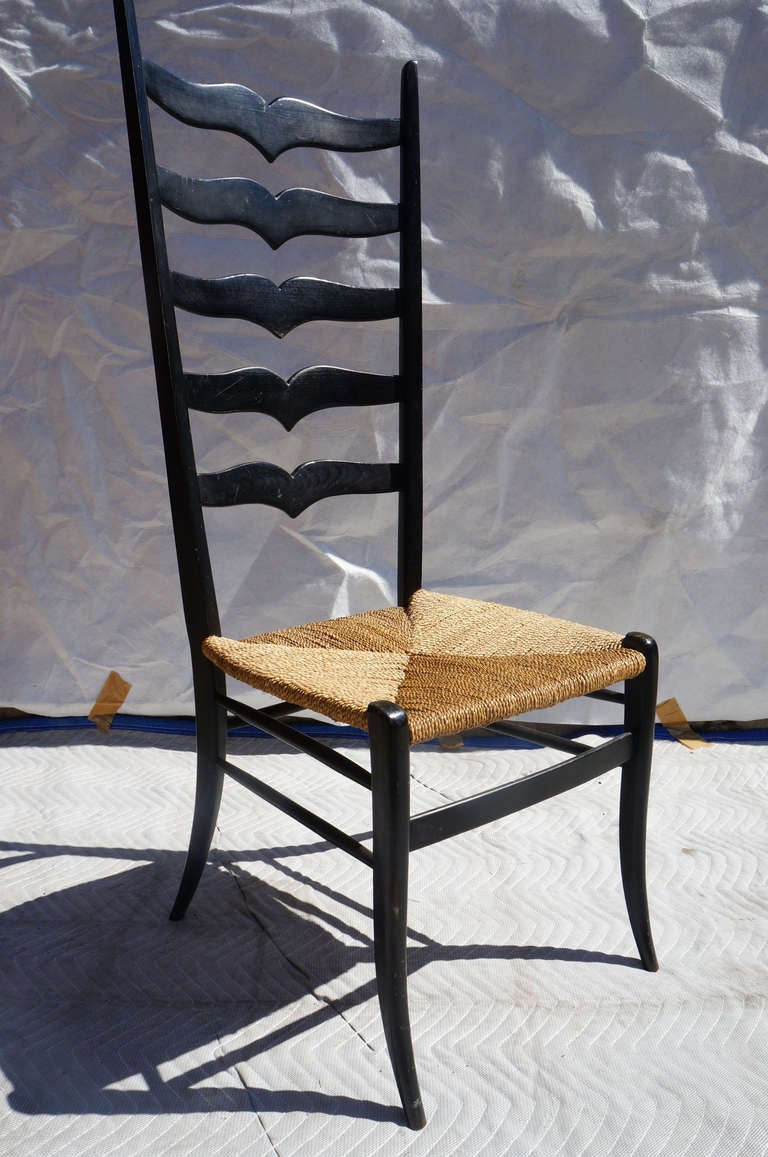 Pair of High Back Italian Chairs 2