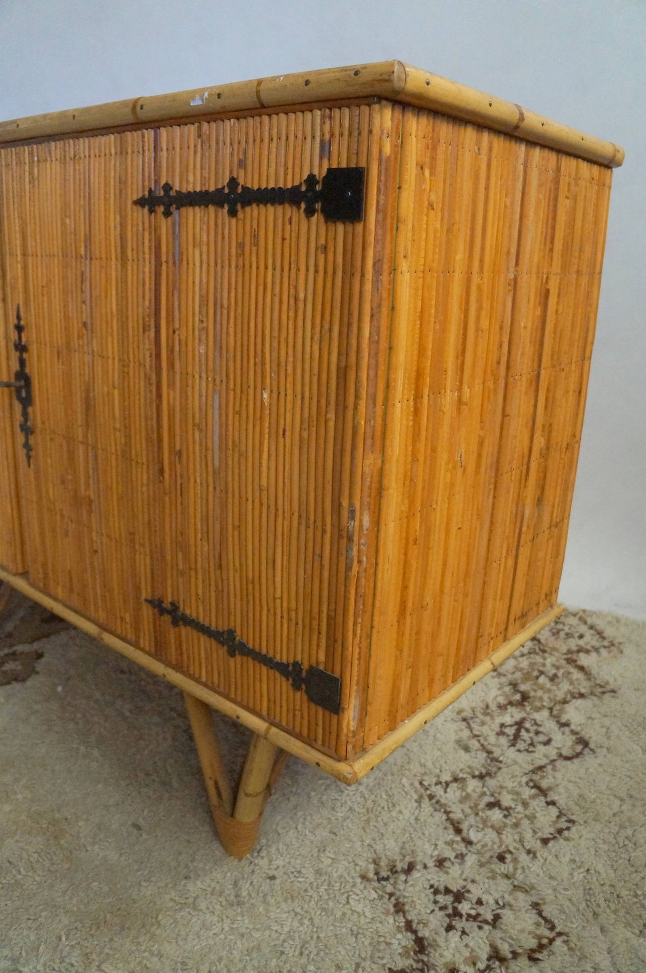 Bamboo cabinet for sale at 1stdibs for Bamboo kitchen cabinets for sale