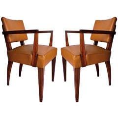 Pair of Mahogany Bridge Chairs
