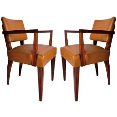 Pair of Mahogany Bridge Chairs