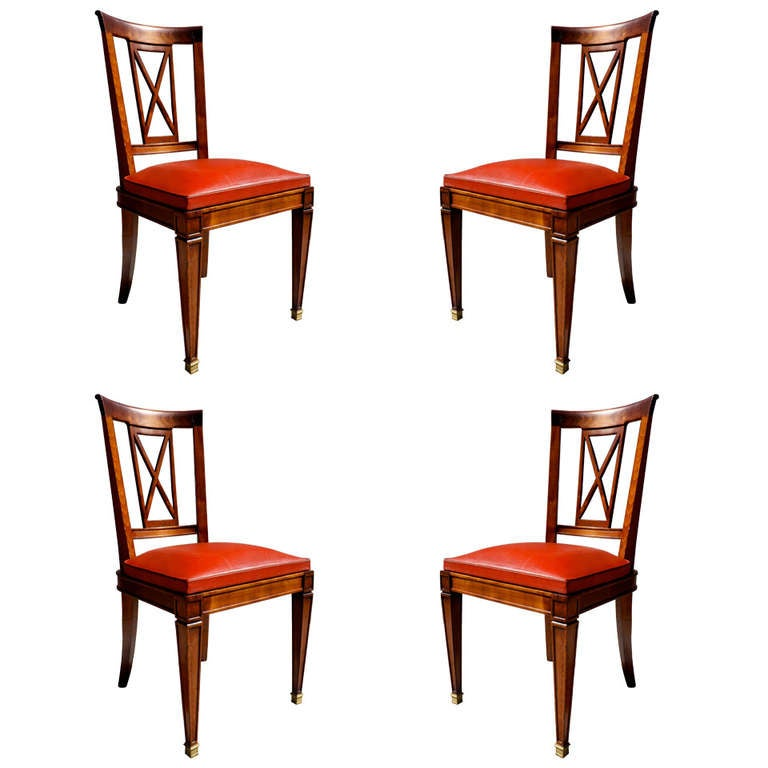 Set of Four Neoclassical Chairs For Sale