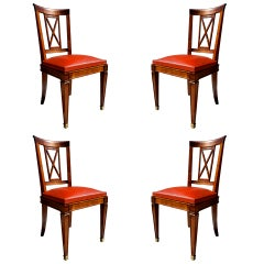 Set of Four Neoclassical Chairs