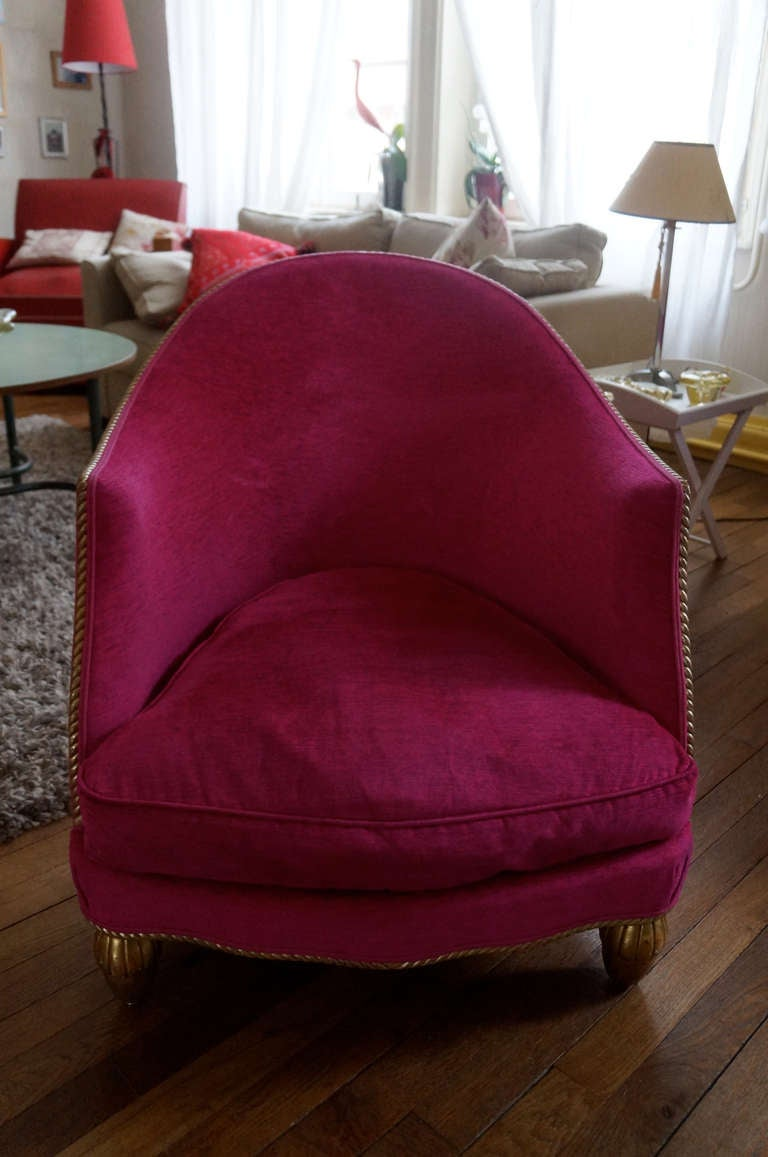 Pair of gold leaf club chairs at 1stdibs for Furniture 08054