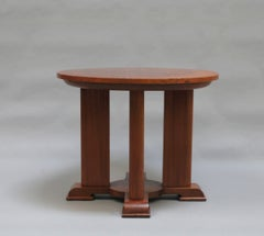 A Fine French Art Deco Mahogany Side Table