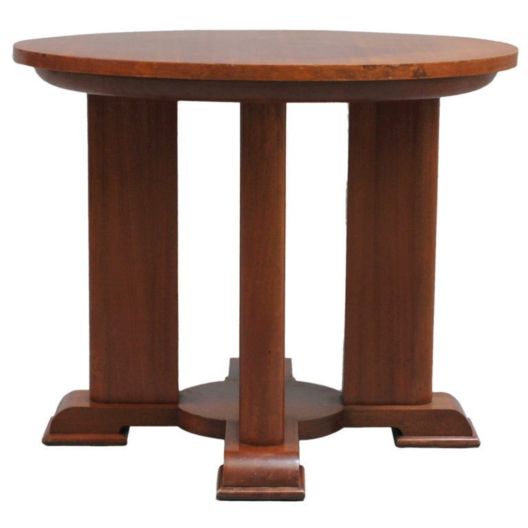 Fine French Art Deco Mahogany Gueridon