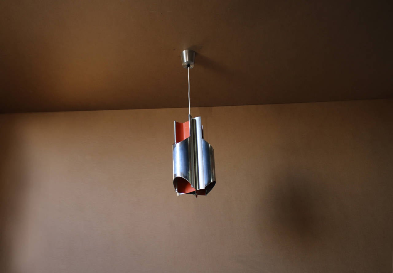 A 1960s Danish Pendant by Bent Karlby for Lyfa In Good Condition For Sale In Long Island City, NY