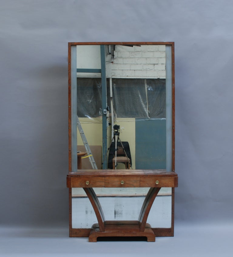 French Art Deco Illuminable Mirror Console At 1stdibs