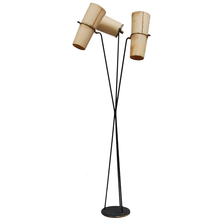 fine french 1940s floor lamp by lunel for sale at 1stdibs. Black Bedroom Furniture Sets. Home Design Ideas
