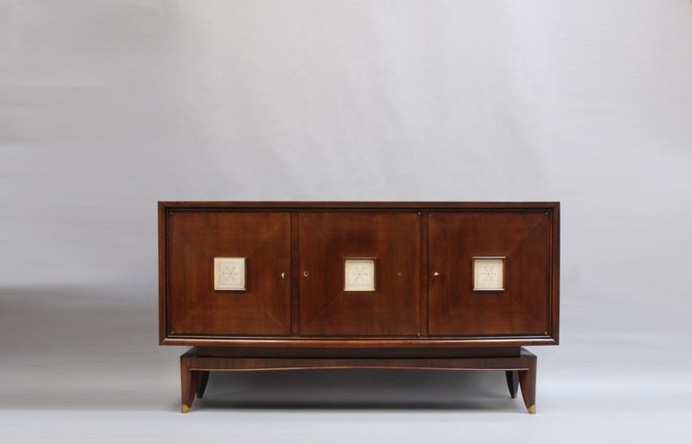 French Art Deco Sideboard with Parchment Details 2