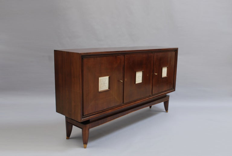 French Art Deco Sideboard with Parchment Details 3
