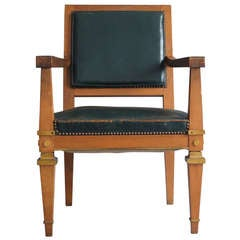 French Art Deco Desk Chair Attributed to Arbus