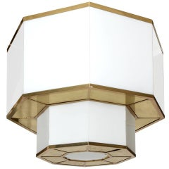 Large Flush Mount Chandelier By Jean Perzel