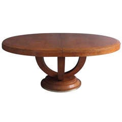 Fine French Art Deco Oval Dining - Center Table
