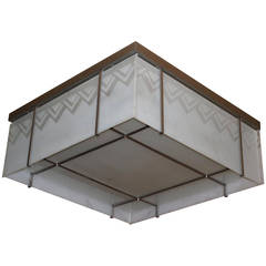 Fine French Modernist Flush Mount Attributed to Perzel