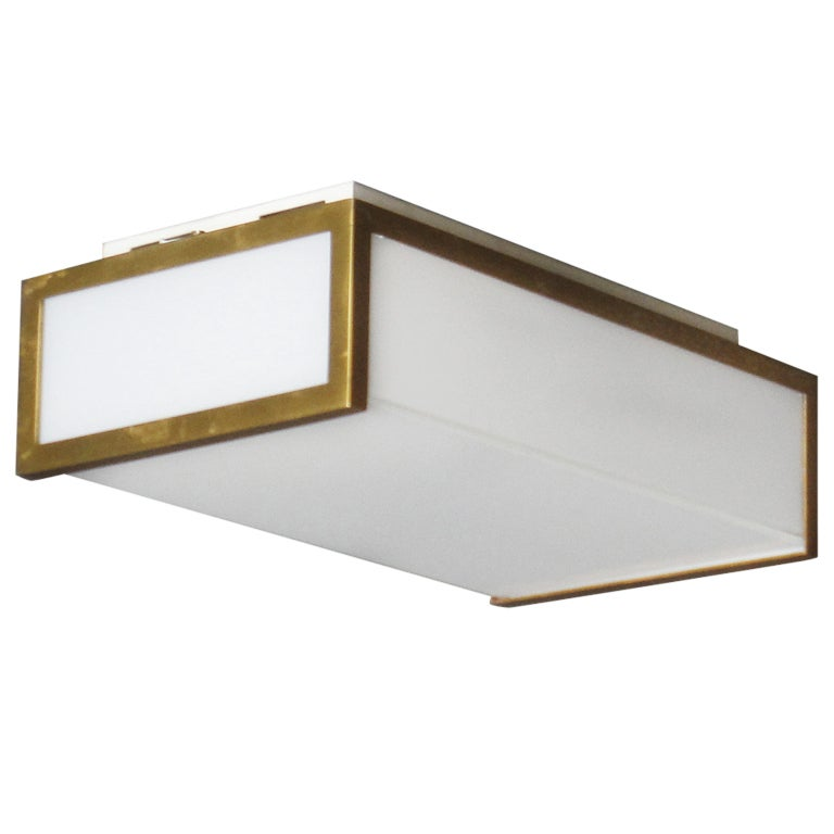 Small Rectangular Flush Mount By Jean Perzel At 1stdibs