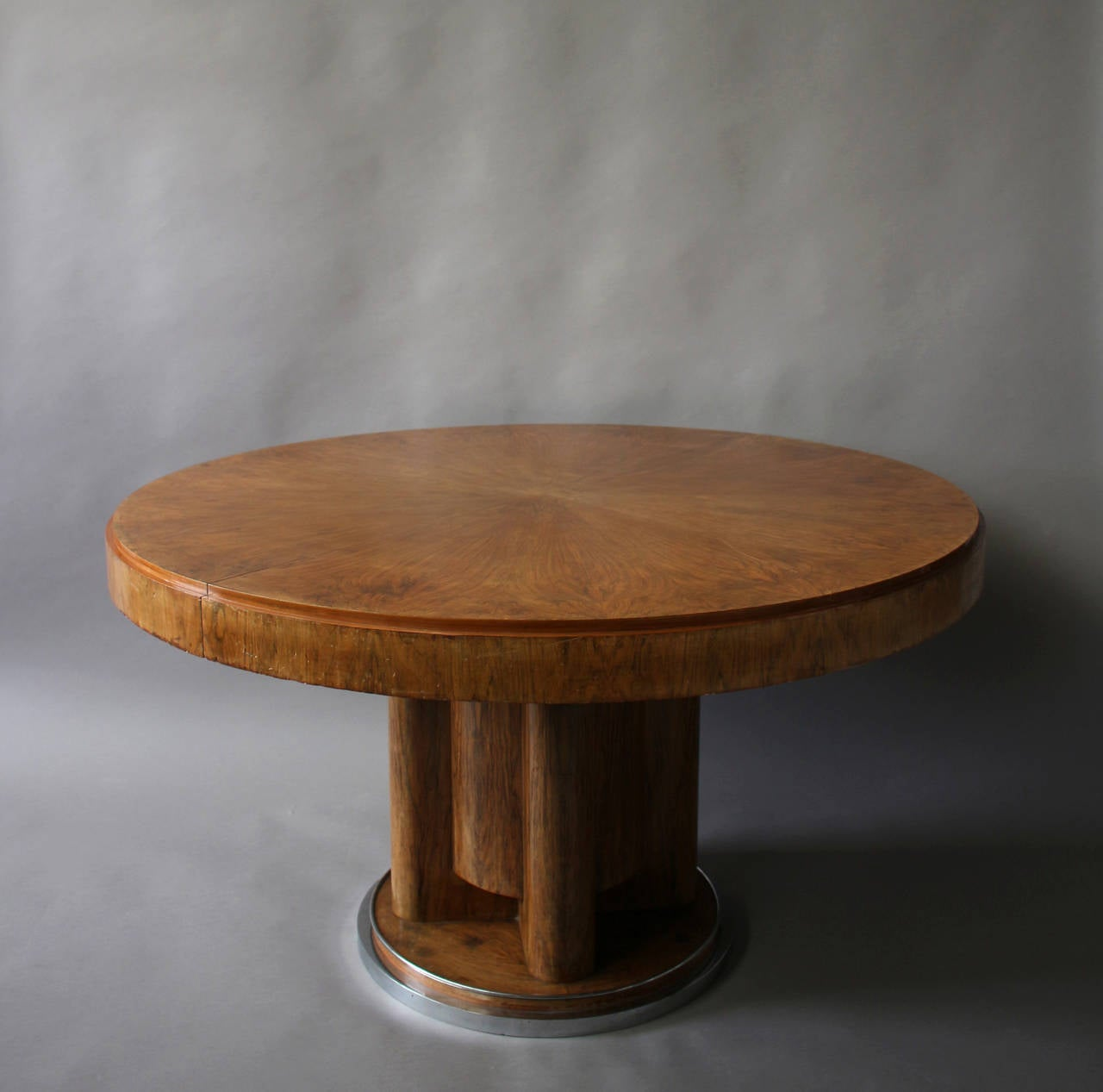 fine french art deco walnut round dining table 8 art deco dining table 8