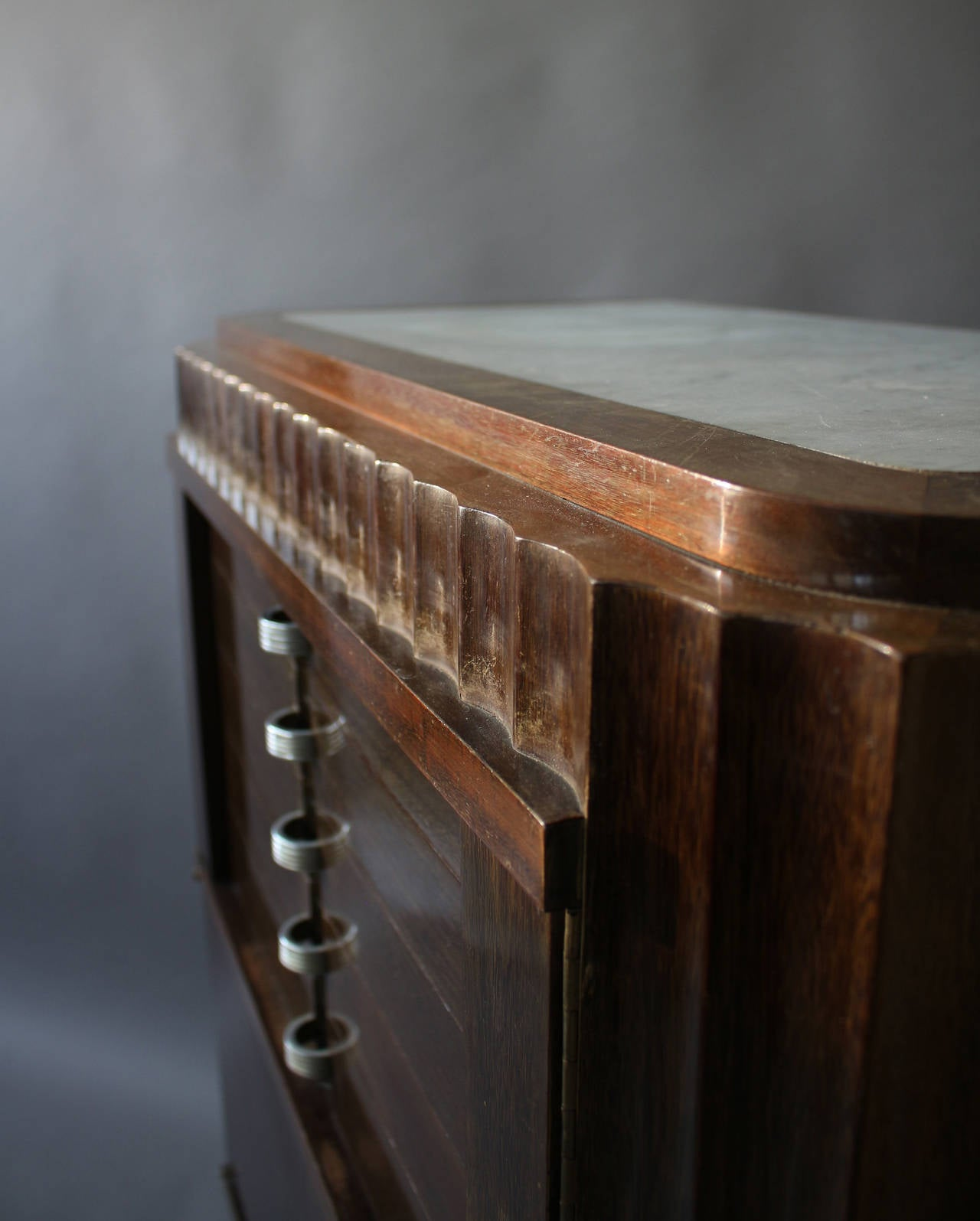 A Fine French Art Deco Silverware Cabinet by Christian Krass For Sale 5