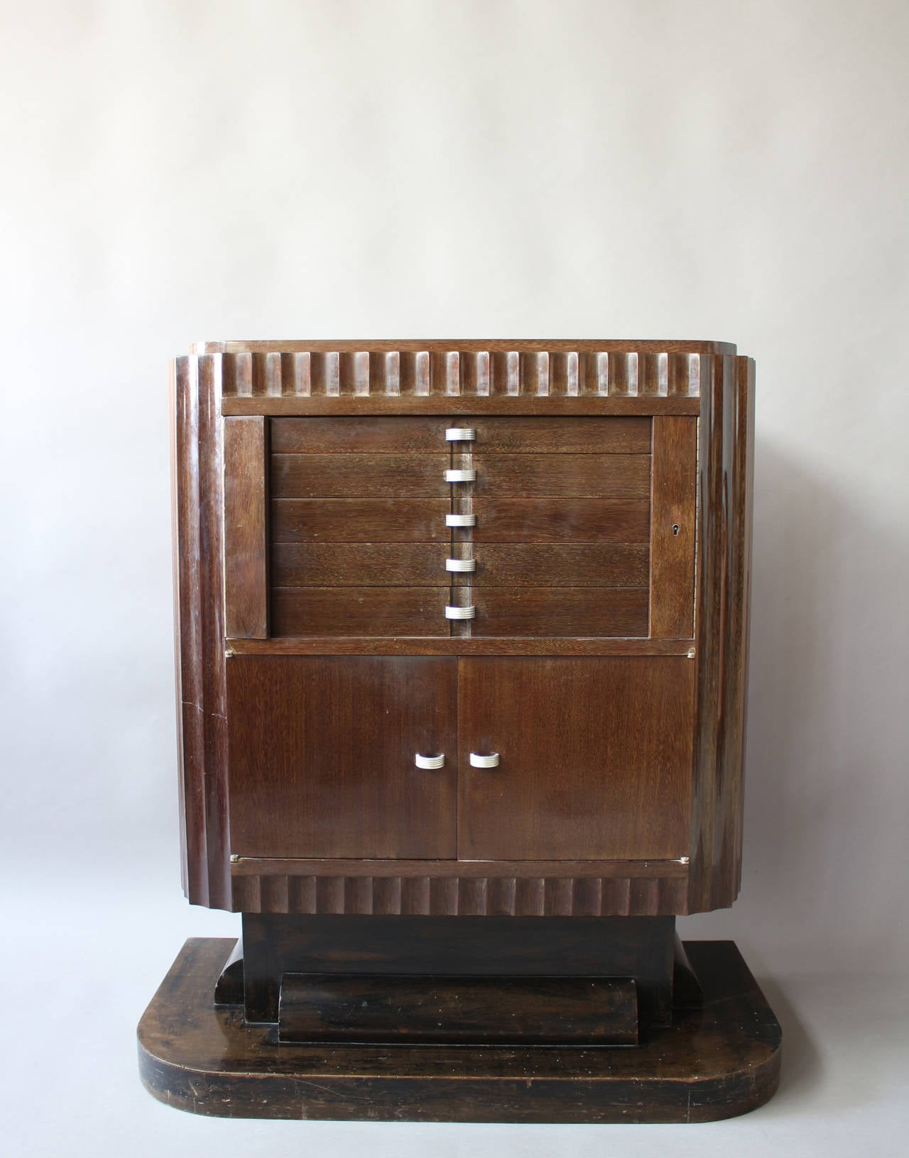 A Fine French Art Deco Silverware Cabinet by Christian Krass In Fair Condition For Sale In Long Island City, NY