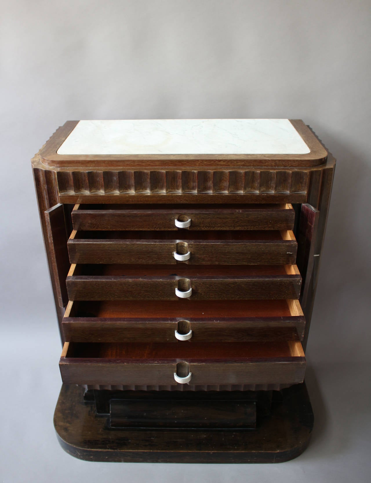 A Fine French Art Deco Silverware Cabinet by Christian Krass For Sale 1