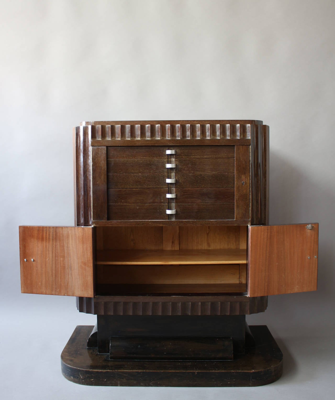 Mid-20th Century A Fine French Art Deco Silverware Cabinet by Christian Krass For Sale