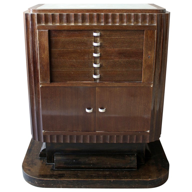A Fine French Art Deco Silverware Cabinet by Christian Krass For Sale