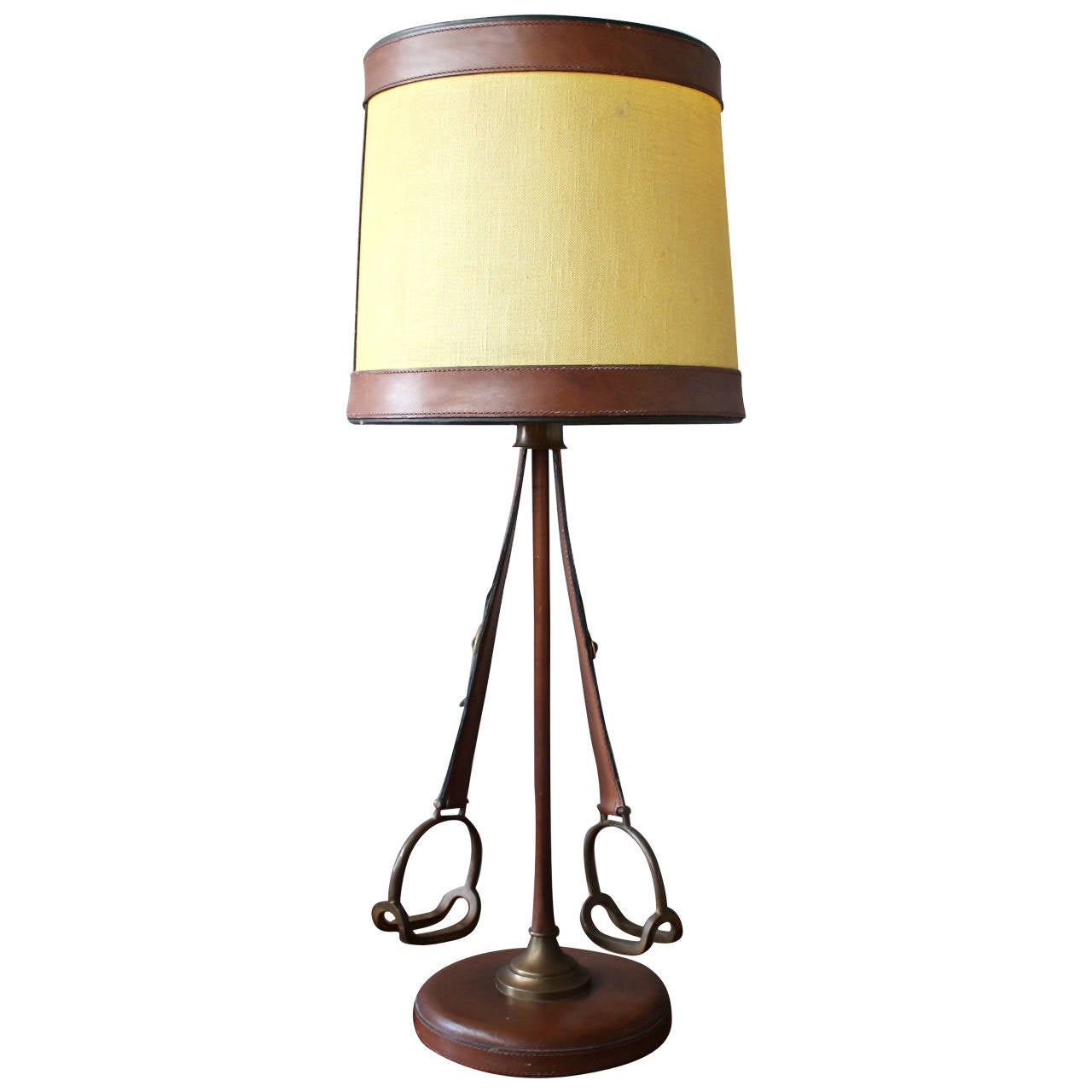 unusual french stirrup table lamp for sale at 1stdibs. Black Bedroom Furniture Sets. Home Design Ideas