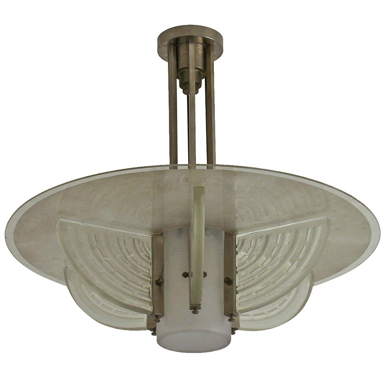 Art Deco Foyer Lighting : Fine french art deco chandelier by hettier et vincent for