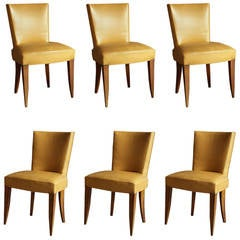 7 Fine French Art Deco Mahogany Chairs