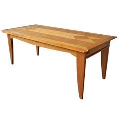 Fine French Art Deco Oak Table by P. Bloch and Charles Dudouyt