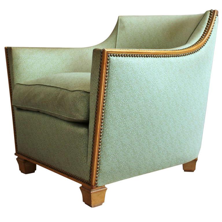 Bon Fine French Art Deco Armchair By Dominique For Sale