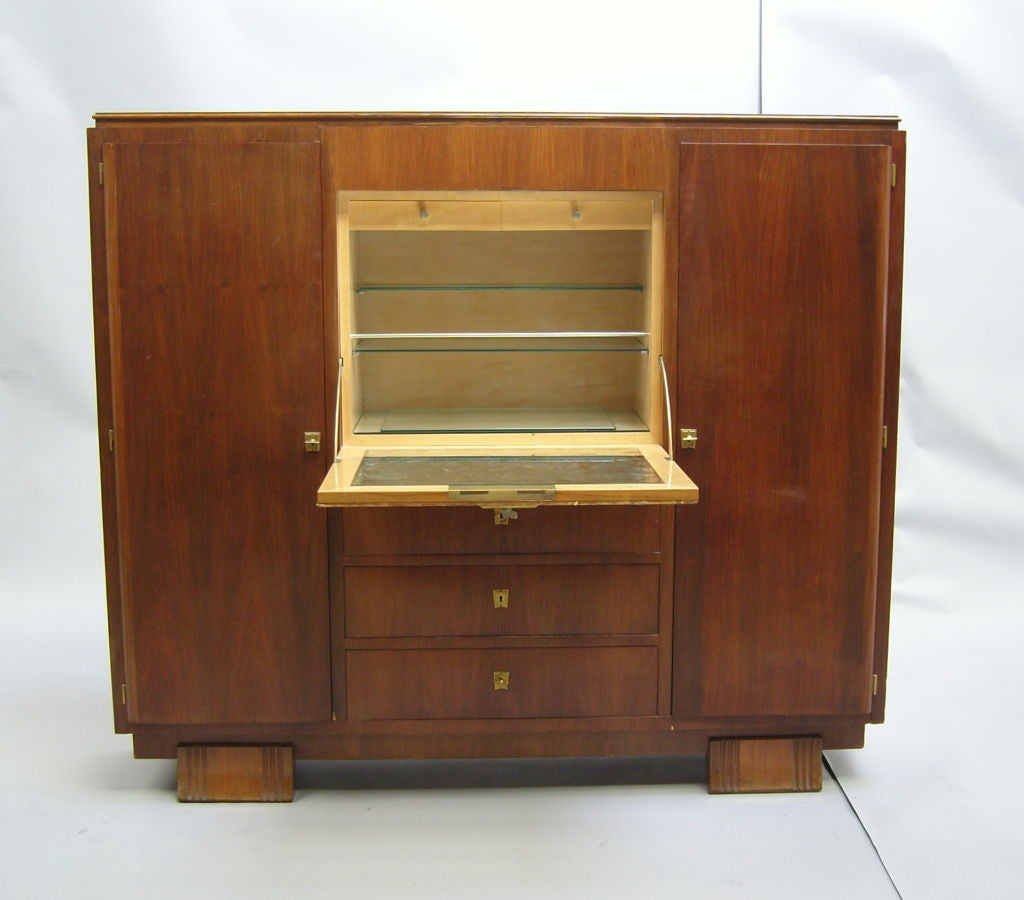 fine french art deco cabinet or bar by haentg s at 1stdibs. Black Bedroom Furniture Sets. Home Design Ideas