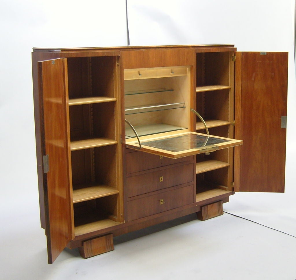 Fine French Art Deco Cabinet Or Bar By Haentg S At 1stdibs
