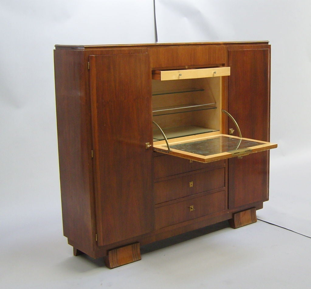French Art Deco Cabinet Or Bar By Haentg S At 1stdibs