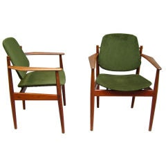 Pair of France & Sons' Danish Armchairs
