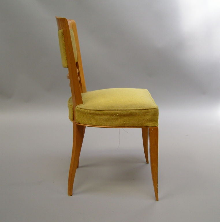 Mid-20th Century A Set of Six Fine French Art Deco Dining Chairs by Batistin Spade For Sale