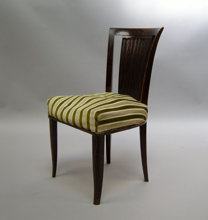 Set of Six French Art Deco Chairs by Gaston Poisson In Good Condition For Sale In Long Island City, NY