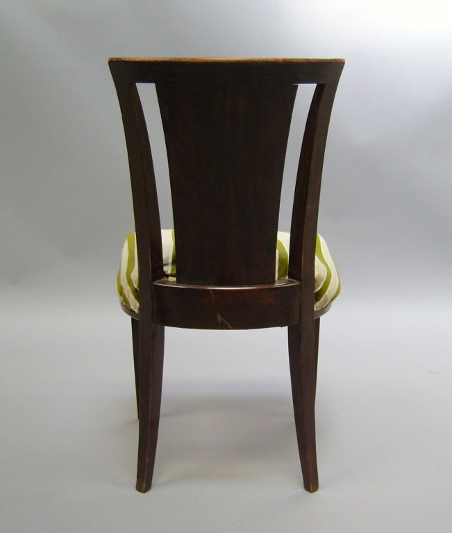 Set of Six French Art Deco Chairs by Gaston Poisson For Sale 1